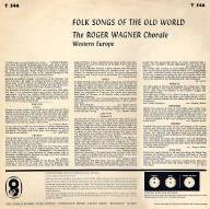 Folk Songs of the Old World back cover