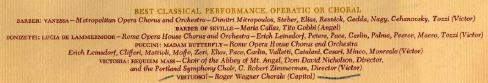 1st Grammy - best classical performance, operatic or choral