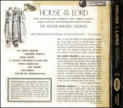 House of the Lord - tape back cover