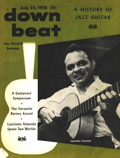 down beat magazine cover, July 24 1958