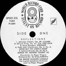Reflections label 1 (Australia WRC LP)