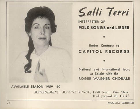 Salli Terri - from the Musical Courier