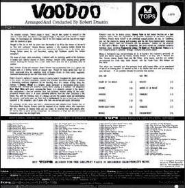 US Tops Voodoo album back cover